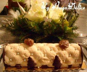 BUCHE DE NOEL MARRON CHOCOLAT dans Bavarois, Entremets buche-noel-2012-300x248