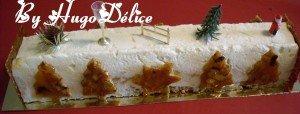 BUCHE DE NOEL POIRE-CARAMEL dans Bavarois, Entremets buche-poire-caramel-2012-300x114