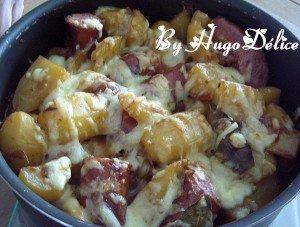 DIOTS aux pommes de terre et  à la Raclette dans plats uniques gratin-de-diots-a-la-raclette-300x227