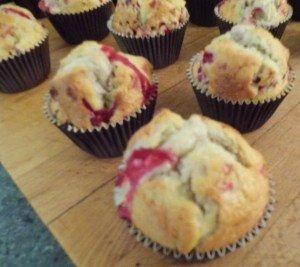 muffins chocolat blanc groseilles